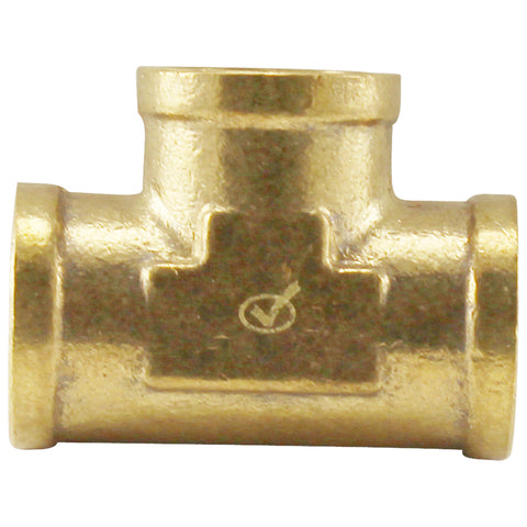 "Brass Tee - 1/2"" Female NPT"