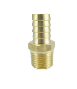 "Brass Barbed Fitting - 1/2"" Male NPT to 3/4"" Barb"