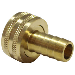 "Garden Hose Fitting - Brass - 3/4"" Female GH to 1/2"" Barb"