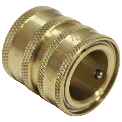 "Garden Hose Fitting - Brass - 3/4"" Female GH to Female Quick Disconnect"
