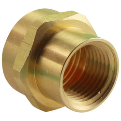 "Brass Garden Hose Adapter - 3/4"" Female Garden Hose to 1/2""Female NPT"