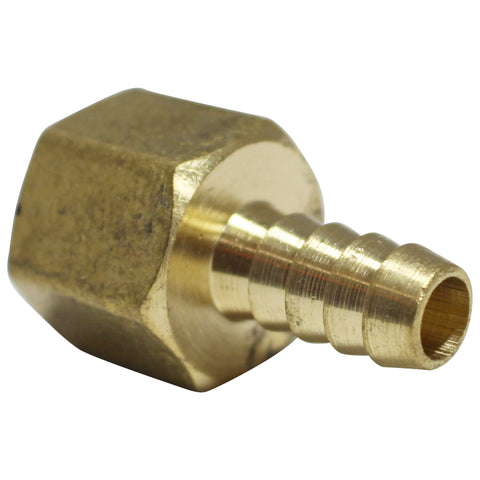 "3/8"" Brass Barb to 1/2"" Female NPT"