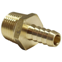 "Brass Barb - 3/8"" to 1/2"" Male NPT"