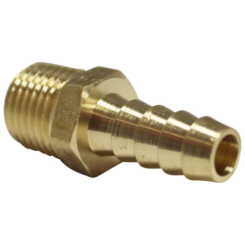 "5/16"" Brass Barb to 1/4"" Male NPT"