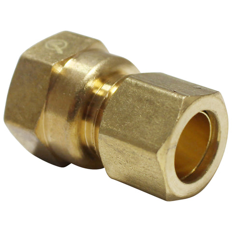 "Brass Compression Fitting - 1/2"" Compression to 1/2"" Female NPT"