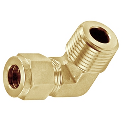 "Brass Compression Elbow - 1/2"" Compression to 1/2"" Male NPT"
