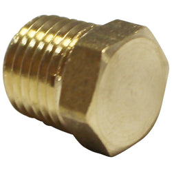 "1/4"" Male NPT Brass Hexagonal Plug"