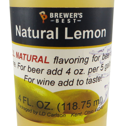Natural Lemon Flavouring Extract - 4oz