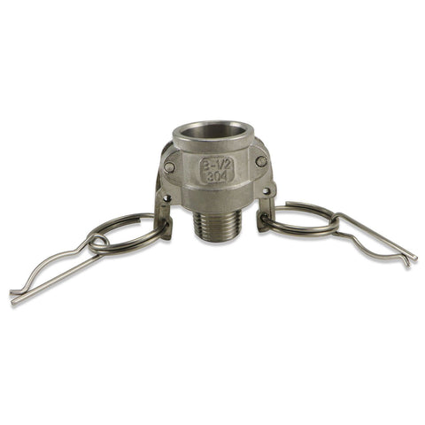"Camlock - Stainless Steel Type B - Female Camlock 1/2"" Male NPT"
