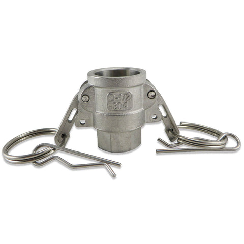 "Camlock - Stainless Steel Type D - Female Camlock with 1/2"" Female NPT"