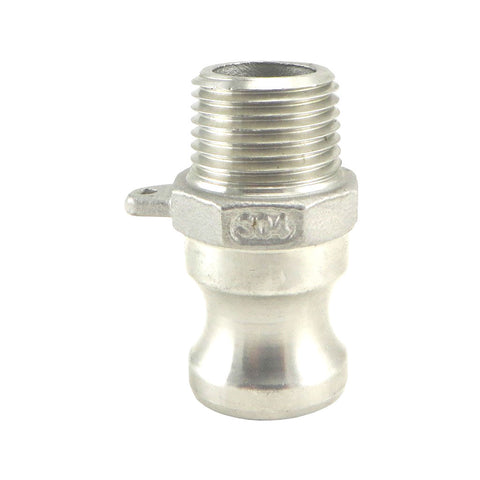 "Camlock - Stainless Steel Type F - Male Camlock x 1/2"" Male NPT"