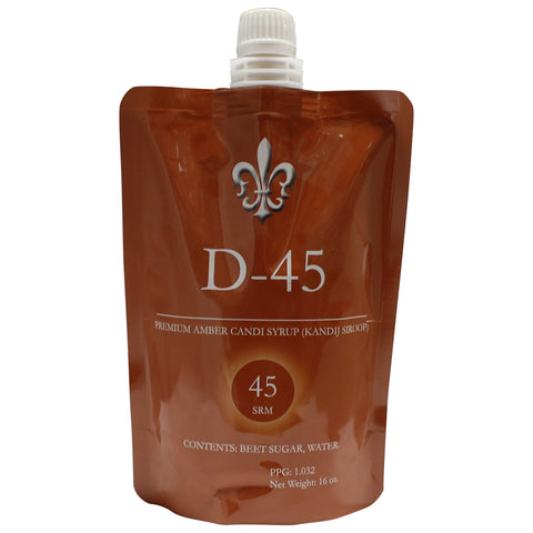 D-45 Amber Belgian Candi Syrup 1lb Pouch