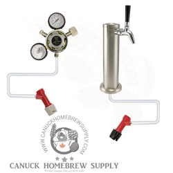 Single Tap Tower Pin Lock Kegerator Setup
