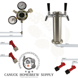 Pin Lock Double Tap Beer Tower Kegerator Setup