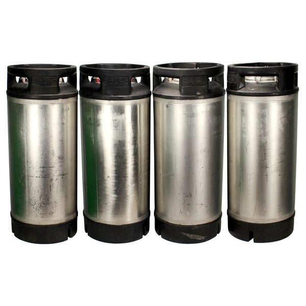 (4 Pack) 5 Gallon Ball Lock Stubby Keg