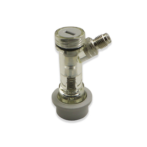 "Ball Lock Gas Disconnect with Check Valve - 1/4"" MFL"