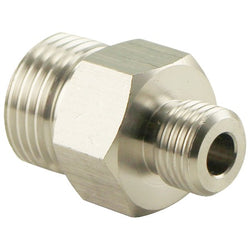 "Stainless Steel CO2 Regulator Adapter - CGA-320 to 1/4"" Male NPT"