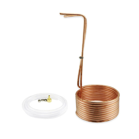 Copper Immersion Wort Chiller - 25' of 3/8""