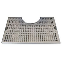 "Countertop Cut-Out Drip Tray - 12"" x 7"" x 3/4"""