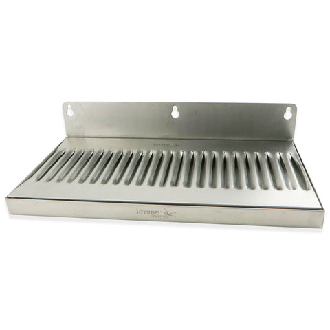 "Stainless Steel Wall Mounted Drip Tray - 12"" x 6"" x 3/4"""