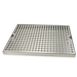"Stainless Steel Surface Mounted Drip Tray - 12"" x 8"" x 3/4"""