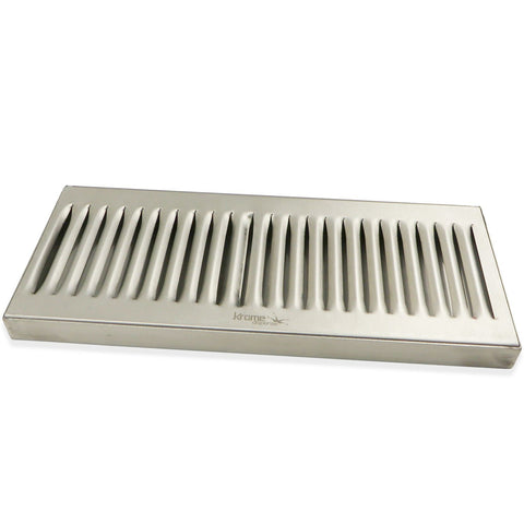 "Stainless Steel Surface Mounted Drip Tray - 12"" x 5"" x 3/4"""