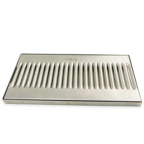 "Stainless Steel Surface Mounted Drip Tray - 12"" x 6"" x 3/4"""