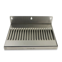 "Stainless Steel Wall Mounted Drip Tray - 10"" x 6"" x 3/4"""