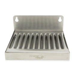 "Stainless Steel Wall Mounted Drip Tray - 6"" x 4.5"" x 3/4"""