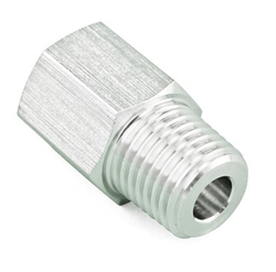 "Stainless Steel Coupling Adapter - 1/4"" Male NPT to 1/4"" FFL"