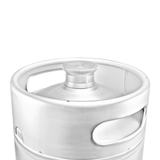 "Stainless Steel ""Mini-Keg"" Growler - 10 L - Top View"
