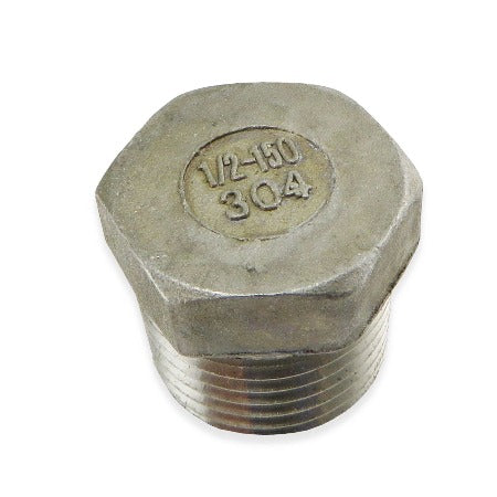 "Stainless Steel Plug - 1/2"" MPT"