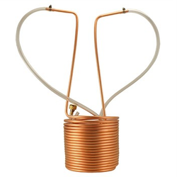 "Keggle Immersion Wort Chiller - 50' of 3/8"" with Vinyl Tubing and Fittings)"