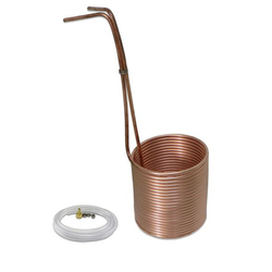 "Copper Immersion Wort Chiller - 50' of 3/8"" (Vinyl Tubing and Fittings) - Canadian Homebrewing Supplier - Free Shipping - Canuck Homebrew Supply"