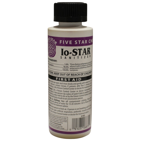 IO-Star Sanitizer - 4 fl oz (118 ml)