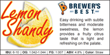 Lemon Shandy Recipe Kit - 1.8kg - Canadian Homebrewing Supplier - Free Shipping - Canuck Homebrew Supply