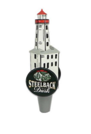 Dark Steelback Lighthouse Tap Handle