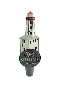 Draught Steelback Lighthouse Tap Handle