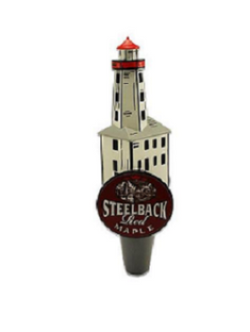 Red Maple Steelback Brewery Lighthouse Tap Handle