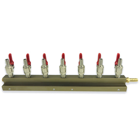 7 Way Gas Distributor  (Manifold) - Canadian Homebrewing Supplier - Free Shipping - Canuck Homebrew Supply