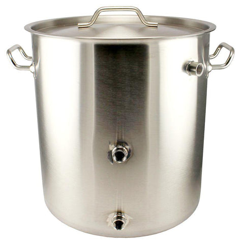 10 Gallon Stainless Steel Mash Tun Welded Brew Kettle - Tri-Clad Induction Ready - Canadian Homebrewing Supplier - Free Shipping - Canuck Homebrew Supply