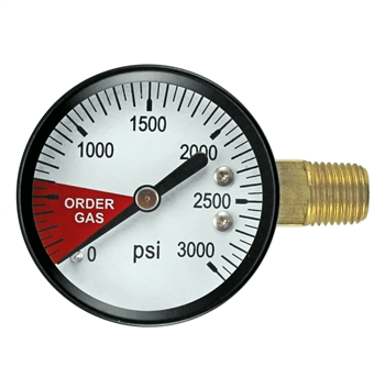 Micro Matic High Pressure Gauge - 0-3000 PSI - Right Hand Thread