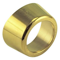 "Micro Matic Polished Brass Flange for 3"" Draft Beer Tower"