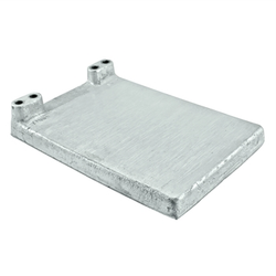 "Micro Matic Cast Aluminum 2 Line Cold Plate - 12"" X 8"""