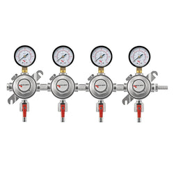 Micro Matic Premium Secondary Quadruple CO2 Regulator (60 PSI) [1164]