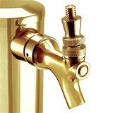 Micro Matic PVD Gold Coated Brass Beer Tower - Single Faucet View
