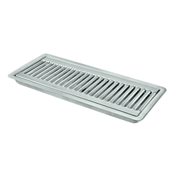 "12"" X 5"" X 3/4"" Micro Matic Stainless Steel Flush Mount With Drain Drip Tray"