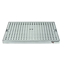 "Micro Matic Stainless Steel Surface Mount With Drain Drip Tray - 12"" X 8"" X 3/4"" [DP-820D-12]"