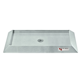 "Micro Matic Stainless Steel Bevel Edge With Drain Drip Tray - 16"" X 6 1/2"" X 3/4""  without Grill"