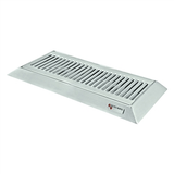 "Micro Matic Stainless Steel Bevel Edge With Drain Drip Tray - 16"" X 6 1/2"" X 3/4"""